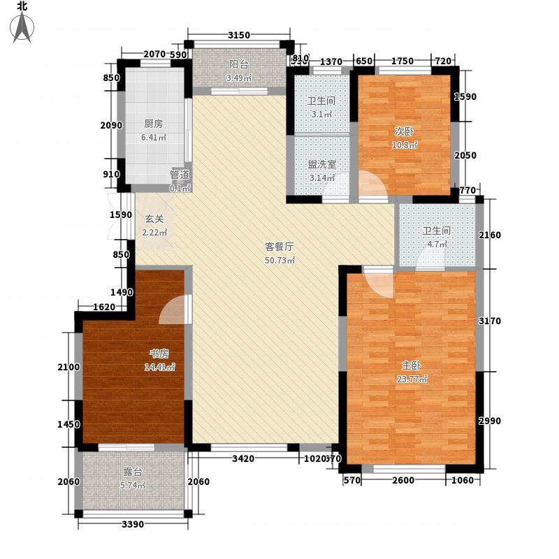 鑫苑逸品香山135.61㎡二期洋房13、14号楼B5户型3室2厅2卫1厨
