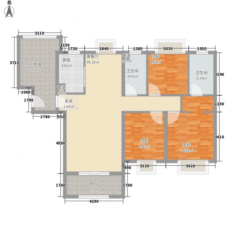 鼓浪屿商业中心3户型3室2厅2卫1厨