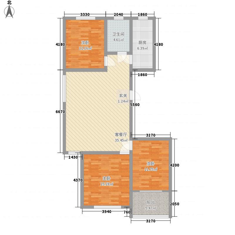 漓江柳岸128.50㎡13户型3室2厅1卫1厨