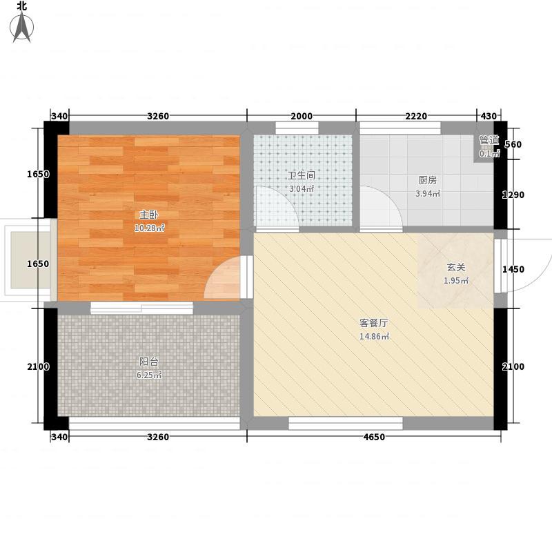 金乐福花园53.00㎡自由之家户型1室1厅1卫1厨