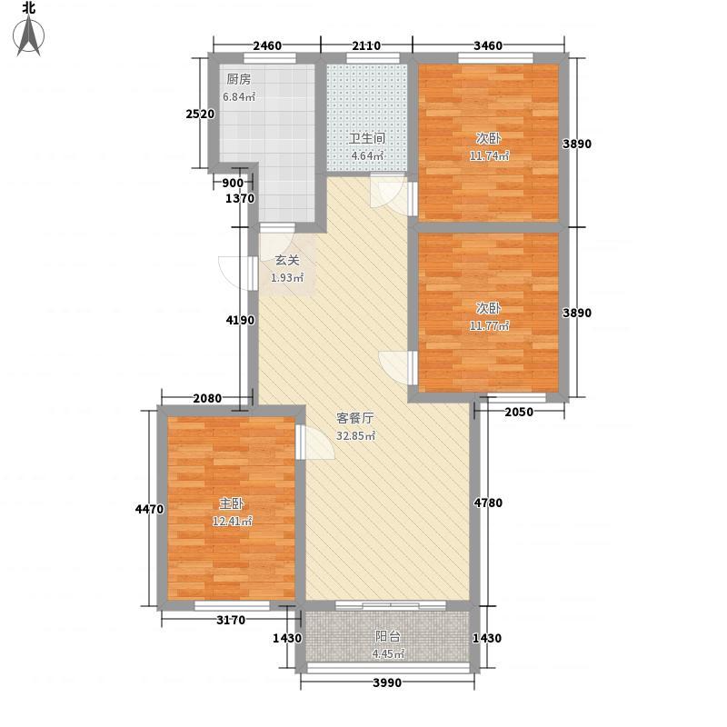 漓江柳岸121.50㎡11户型3室2厅1卫1厨