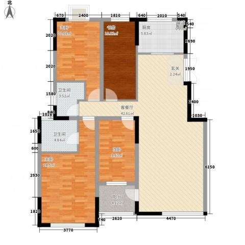 嘉逸・岭湾4室1厅2卫1厨2141.00㎡户型图