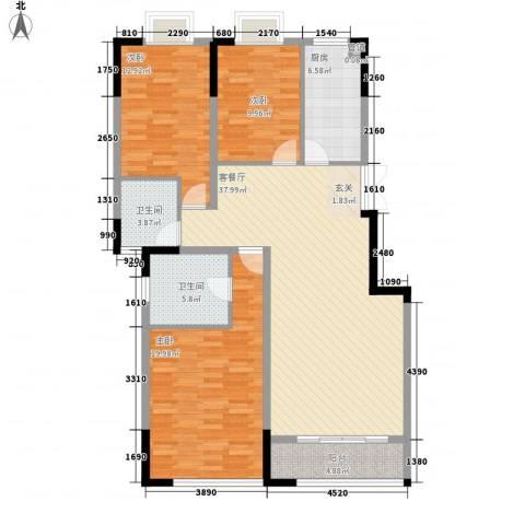 嘉逸・岭湾3室1厅2卫1厨2126.00㎡户型图