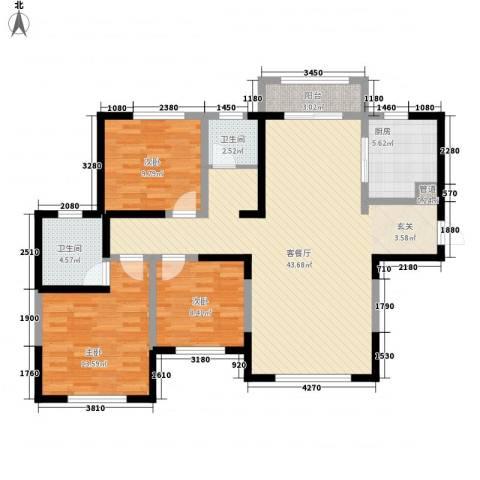 建业壹号城邦3室1厅2卫1厨16313.00㎡户型图