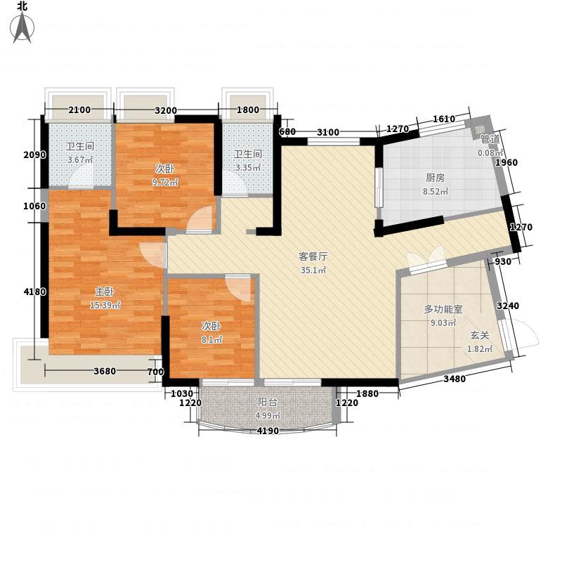 山湖雅苑三期127.00㎡山湖雅苑三期户型图御苑2幢05单元标准层3室2厅2卫1厨户型3室2厅2卫1厨