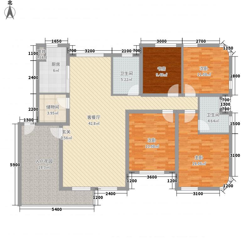 奥林匹克花园155.30㎡Ed户型4室2厅2卫1厨