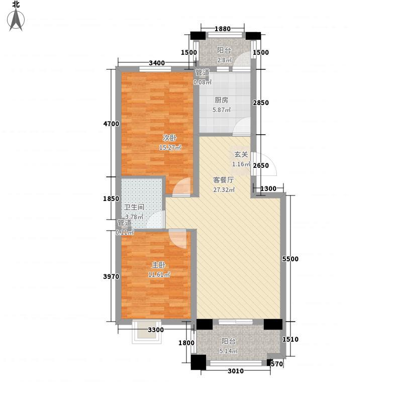 奥林匹克中心广场户型2室
