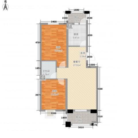 奥林匹克中心广场2室1厅1卫1厨103.00㎡户型图