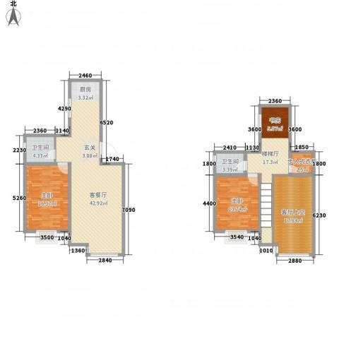 泰戈多立方2室1厅2卫0厨134.15㎡户型图