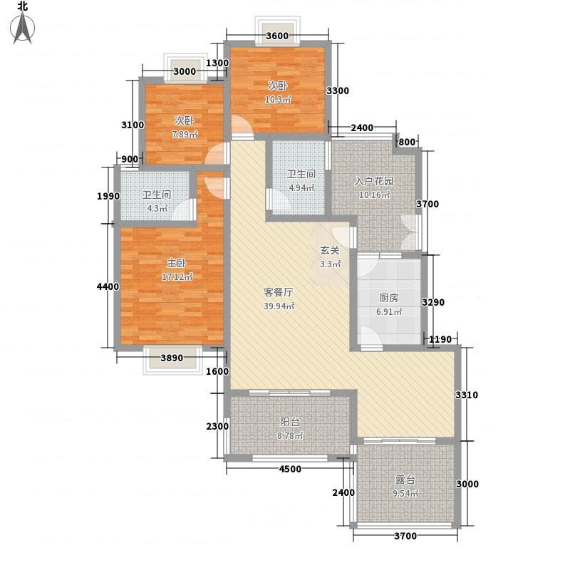 吉塬.南城水乡吉塬南城水乡C二层1、2号房户型3室2厅2卫1厨