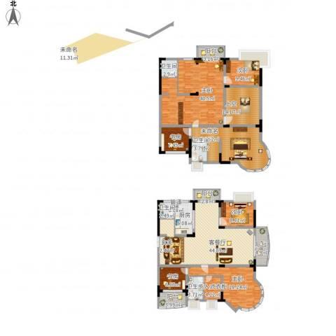 乡村花园南艳湾6室1厅4卫1厨302.00㎡户型图