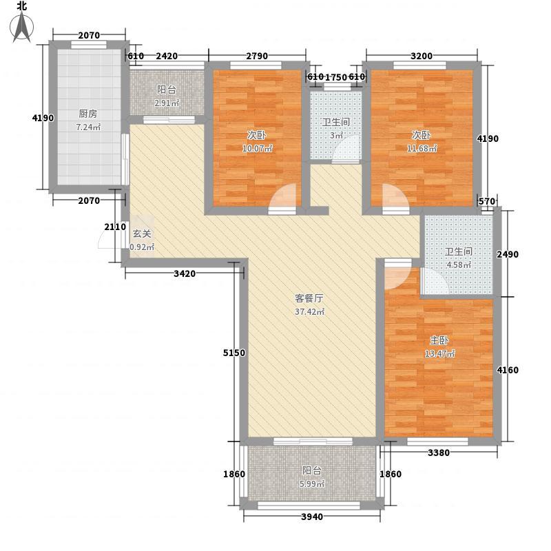 书香铭苑13.80㎡C户型3室2厅2卫1厨