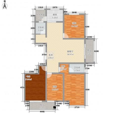 安阳义乌商贸城二期4室1厅2卫1厨183.00㎡户型图