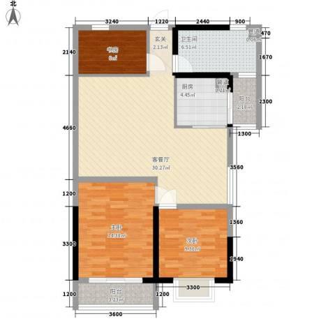 天一华府3室1厅1卫1厨110.00㎡户型图