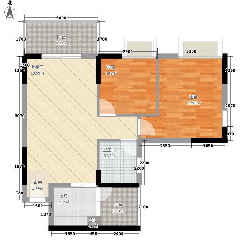 凯东新城四期 2室 户型图