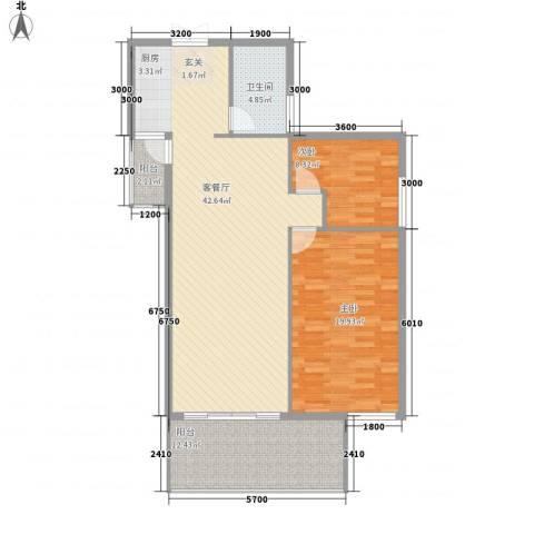 凤凰山水国际城2室1厅1卫0厨90.28㎡户型图