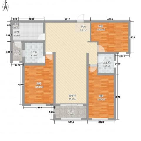 建业壹号城邦3室1厅2卫1厨2142.00㎡户型图