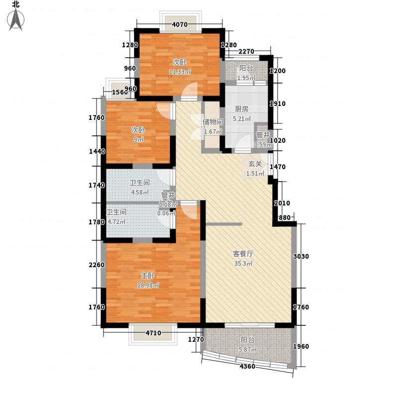 西铁144.57㎡小区户型3室