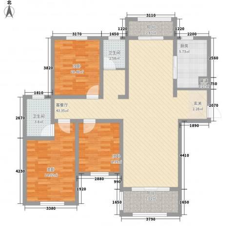 建业壹号城邦3室1厅2卫1厨714.00㎡户型图