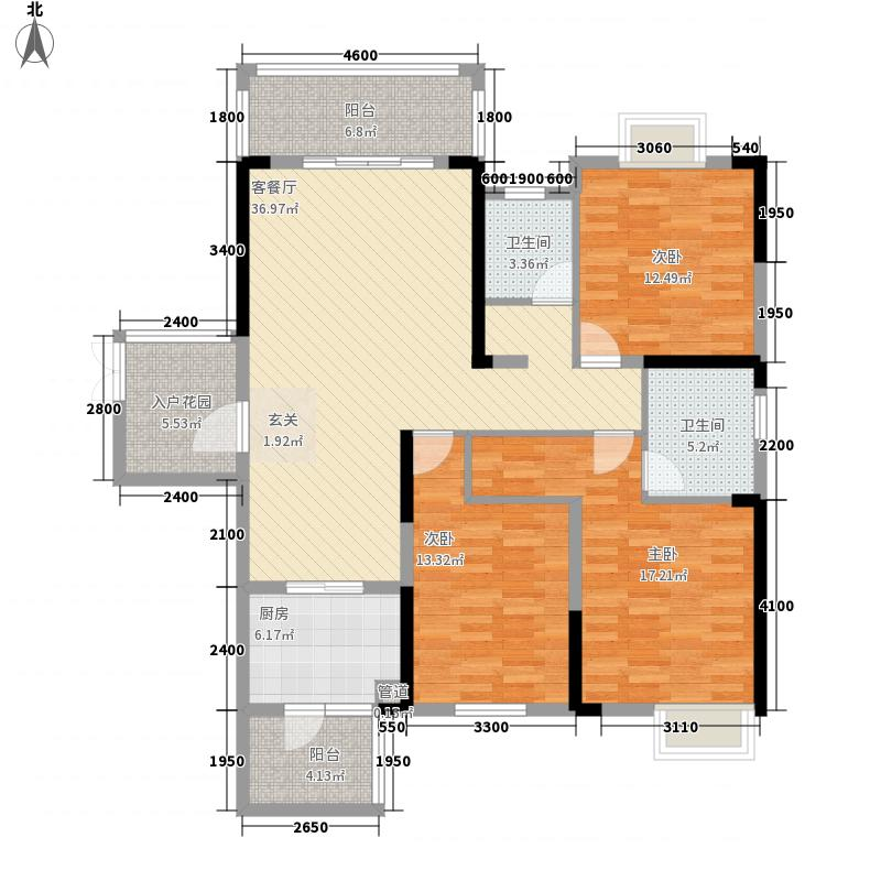 金中环广场144.44㎡X-25户型3室2厅2卫1厨
