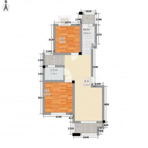 尼盛青年城2室1厅1卫0厨75.00㎡户型图