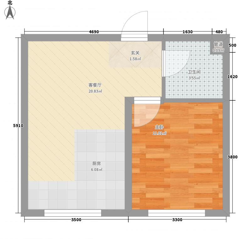 瑞合领秀恋恋山城5.20㎡户型1室1厅1卫