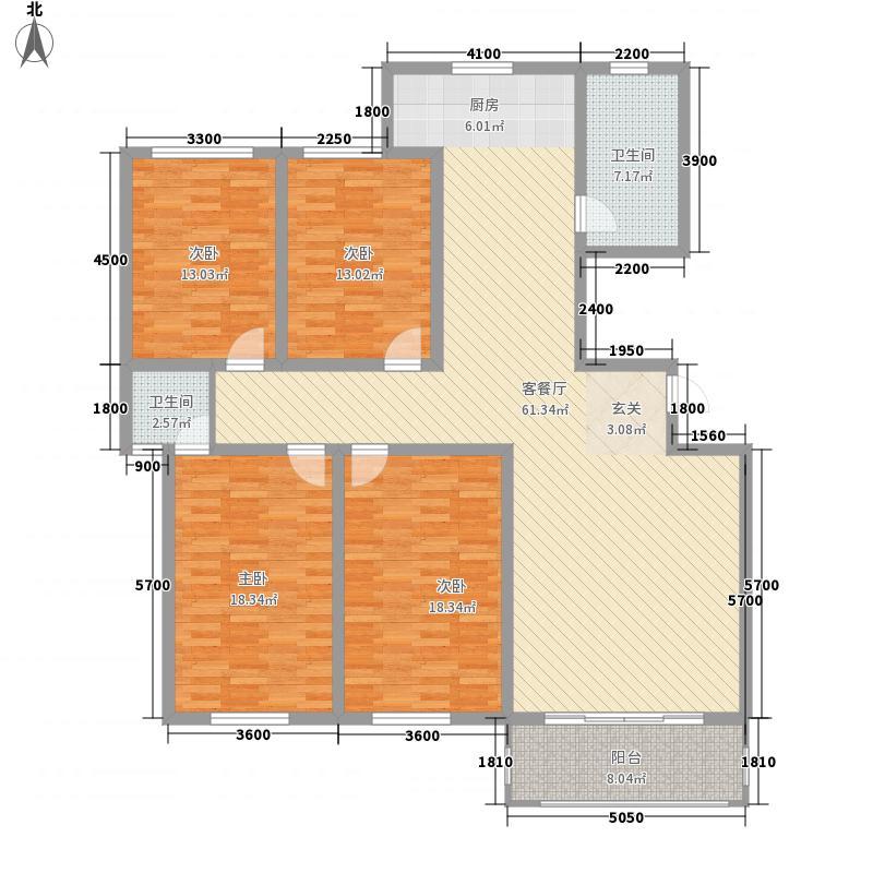 银鹭・金柏湾银鹭・金柏湾5#四室二厅二卫185㎡户型10室