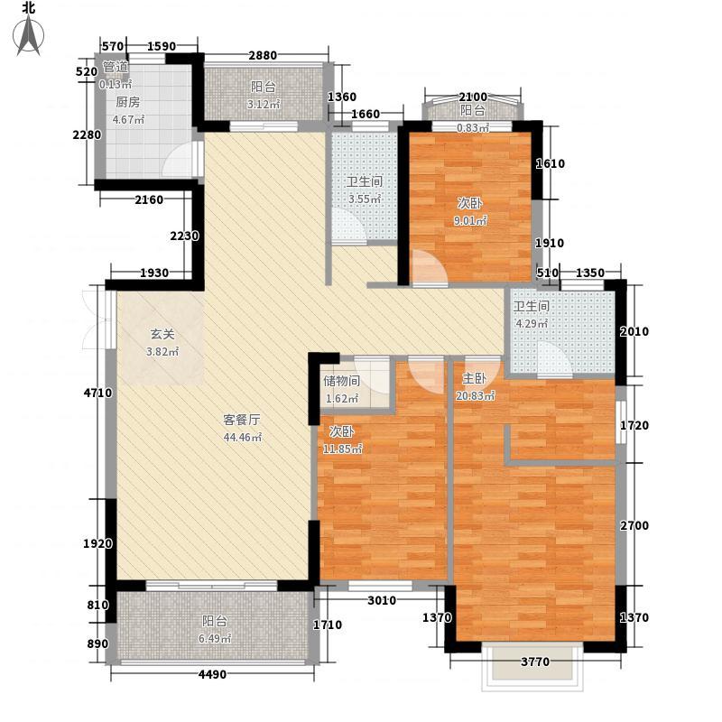 雅丽豪庭147.00㎡10座01-2户型3室2厅2卫