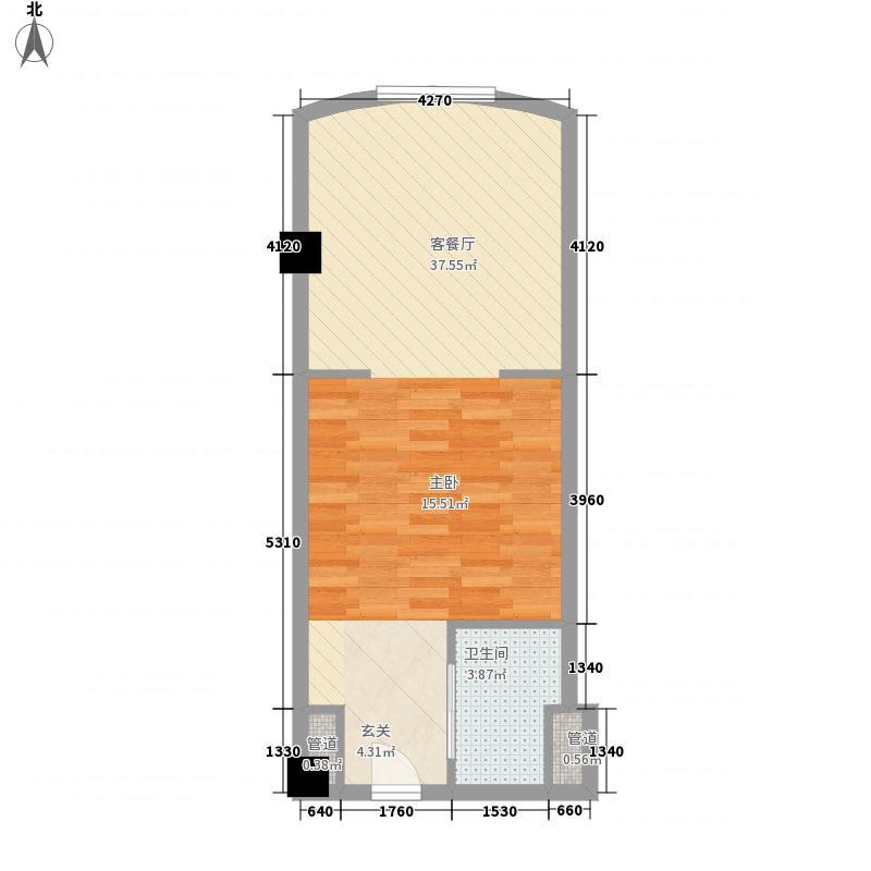 世贸中心58.00㎡C3户型1室1厅1卫