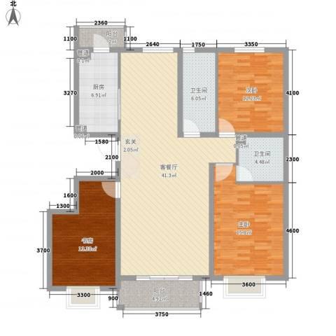 兰馨花园项目3室1厅2卫1厨144.00㎡户型图