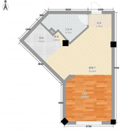 酷派公寓1厅1卫0厨52.00㎡户型图