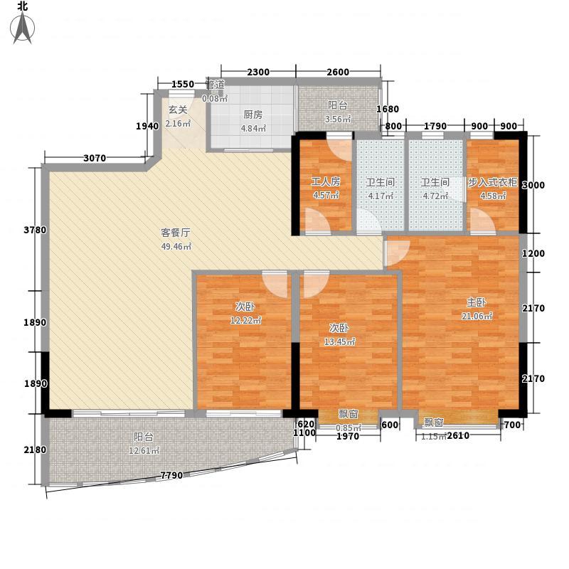 荣基花园(荣基国际广场)163.46㎡海天轩D户型4室2厅2卫1厨