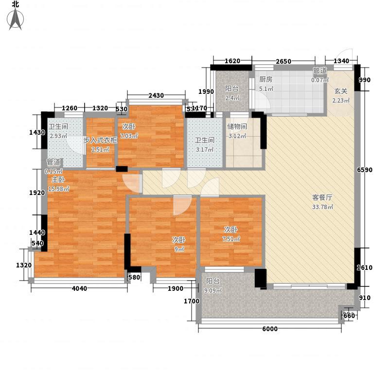 保利西江月145.77㎡保利西江月户型图4室2厅户型图4室2厅2卫1厨户型4室2厅2卫1厨