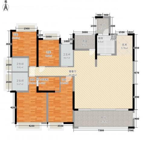 鼎峰源著4室1厅3卫1厨223.00㎡户型图