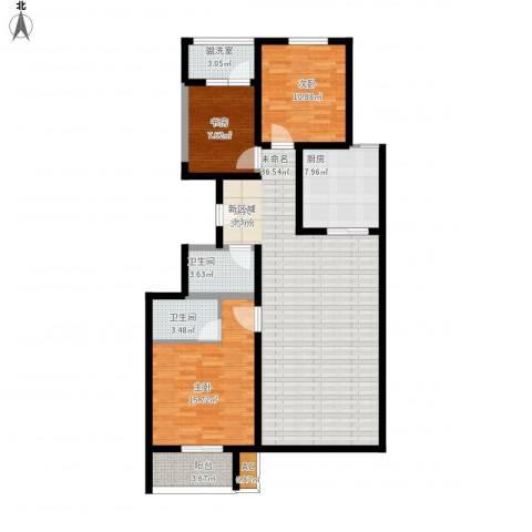 东城摩尔3室1厅2卫1厨139.00㎡户型图