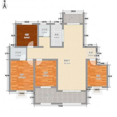 帝都・东城国际4室1厅2卫1厨102.94㎡户型图