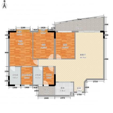 荣基花园(荣基国际广场)3室1厅2卫1厨166.00㎡户型图