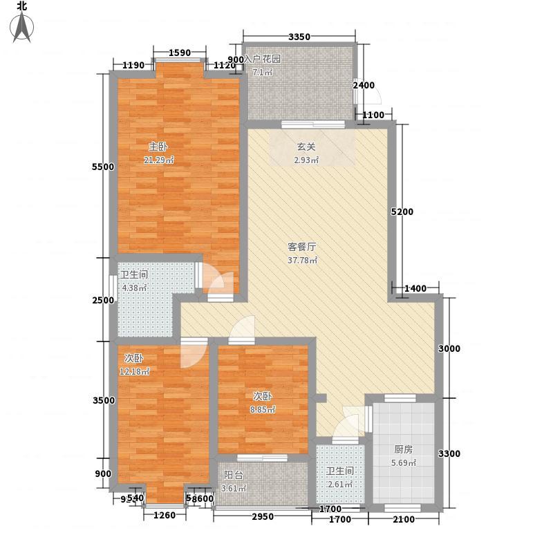 南城一品138.00㎡1栋A户型3室2厅2卫1厨