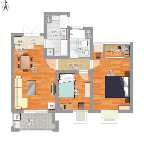 世茂国际广场2室1厅1卫1厨81.00㎡户型图
