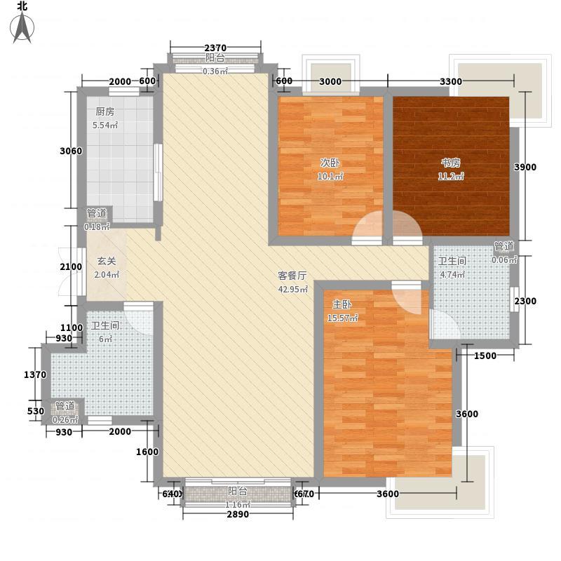 鼓楼巷农行家属院D2户型3室2厅2卫1厨