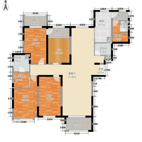 天都首郡3室1厅3卫1厨185.00㎡户型图