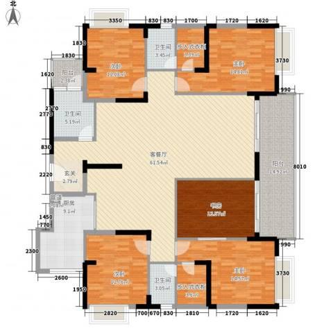 宝麒花园5室1厅3卫1厨244.00㎡户型图
