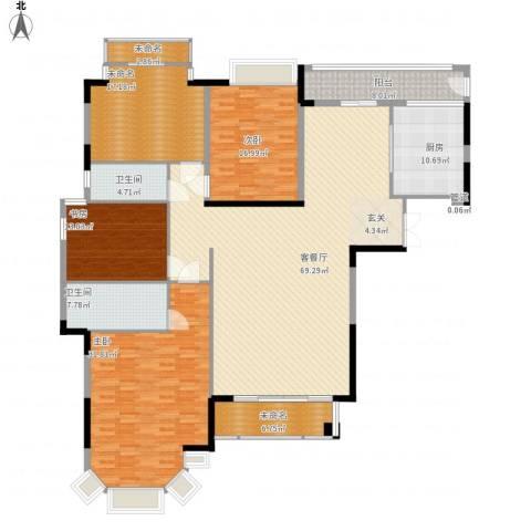 富丽家园福安园3室1厅2卫1厨260.00㎡户型图