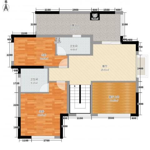 金鸿利嘉阁2室1厅2卫0厨181.00㎡户型图