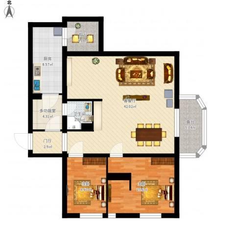 首开・缇香郡2室1厅1卫1厨139.00㎡户型图