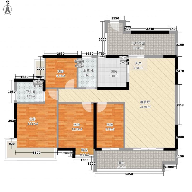 廉江锦绣华景143.00㎡25栋03户型4室2厅2卫1厨