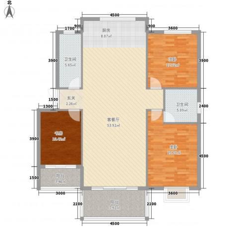 南郡天下3室1厅2卫0厨133.00㎡户型图