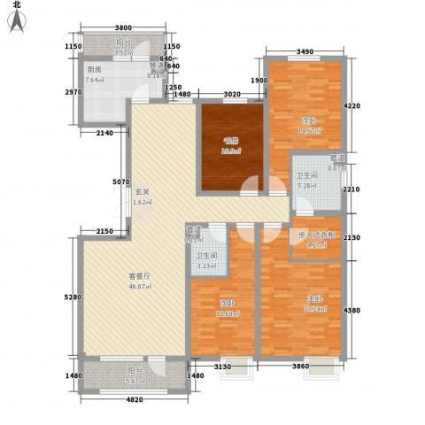 亿隆国际广场4室1厅2卫1厨189.00㎡户型图