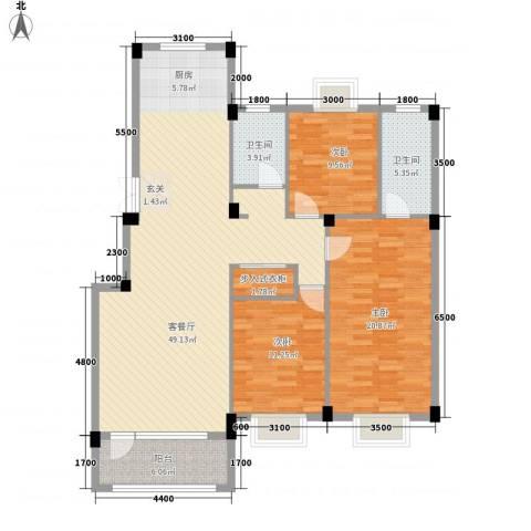 南郡天下3室1厅2卫0厨132.00㎡户型图
