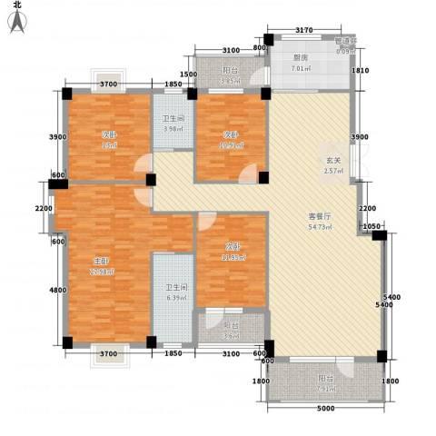 南郡天下4室1厅2卫1厨177.00㎡户型图